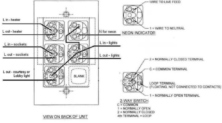energy saving switch wiring diagrams